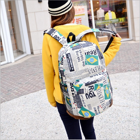 women bag student detonation model of foreign trade package bags fashion bags Oxford cloth Brazil flag