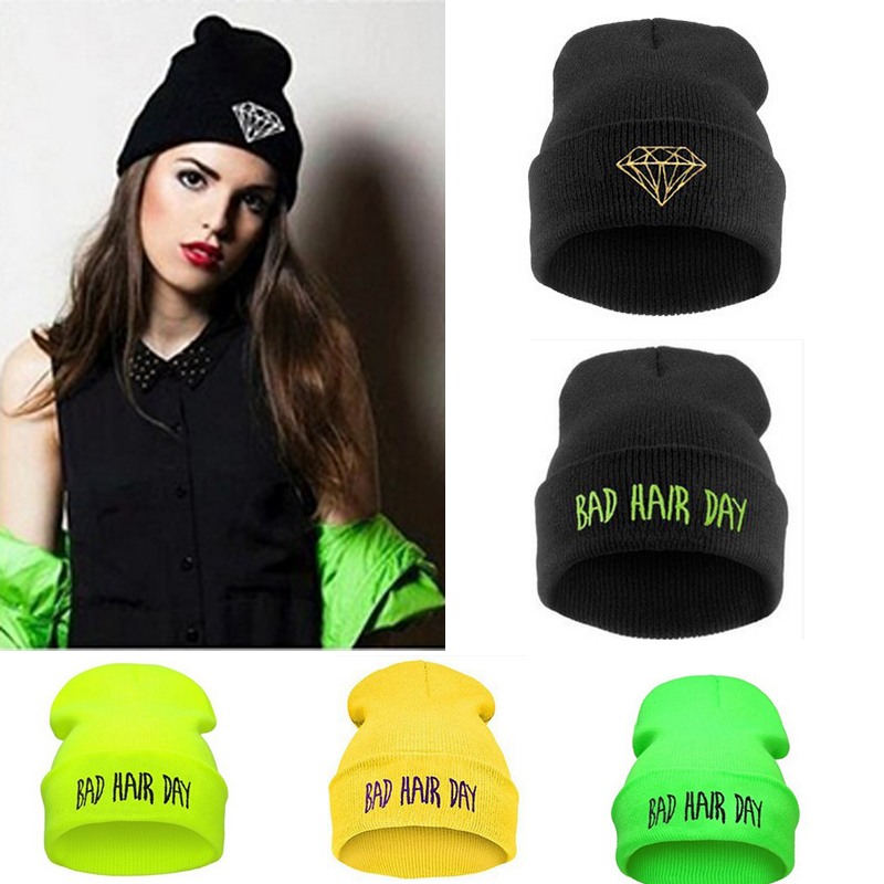 Hat Sport Winter Bad Hair Day Beanie Men Hat Beanie Knitted Hiphop Winter women's hats For Warm Caps Mask hip-hop(China (Mainland))