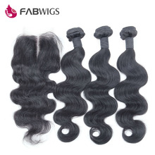 Peruvian Virgin Hair with Closure 4pcs lot 3 Bundles with Lace Closure 6A Unprocessed Human Hair Peruvian Body Wave with Closure(China (Mainland))