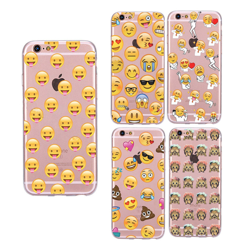 Funny Monkey Emoji Case Shell For Apple iPhone 5 5S SE 6 6S 7 Plus 6SPlus Soft TPU Back Cover New Design Facial Cell Phone Cases(China (Mainland))