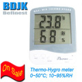 Indoor Digital Moisture Tester Thermometer Hygrometer with C F Switch Free Shipping