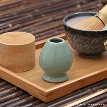 Japanese Matcha tea bamboo brush tool made of bamboo tea 120 the stand. Spike tea bowl ceramic tea set