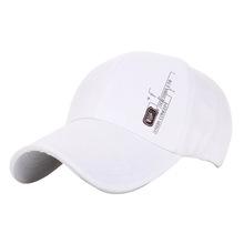 Men's Outdoor Sports White Baseball Caps For Man 2015 Summer Business Casual Sun Visor hat Korean tide Cotton Snapback For Women(China (Mainland))
