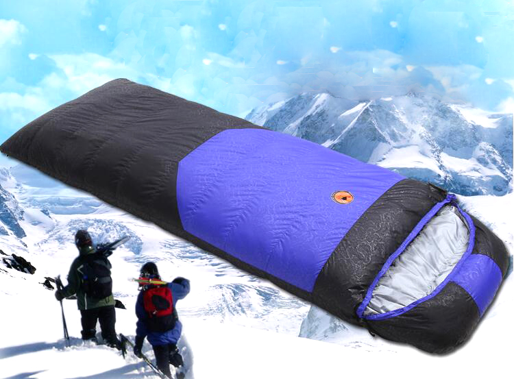 Autumn and winter down sleeping bags outdoor camping ultralight single stitching adult duck sleeping bag to  sleeping bags SD001