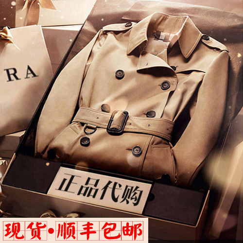 100% commitment commodity brand quality goods, the double-breasted coat of new fund of 2014 autumn winters is femaleОдежда и ак�е��уары<br><br><br>Aliexpress