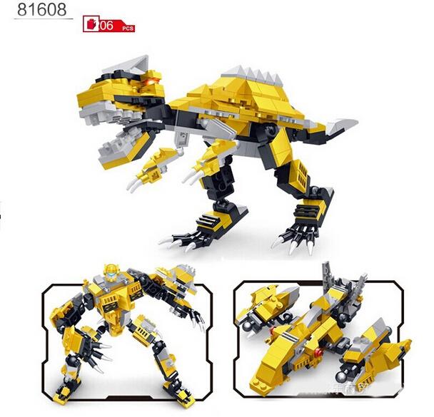 World Dinosaurio Block Lego Compatible DIY Deformable Toy Building ...
