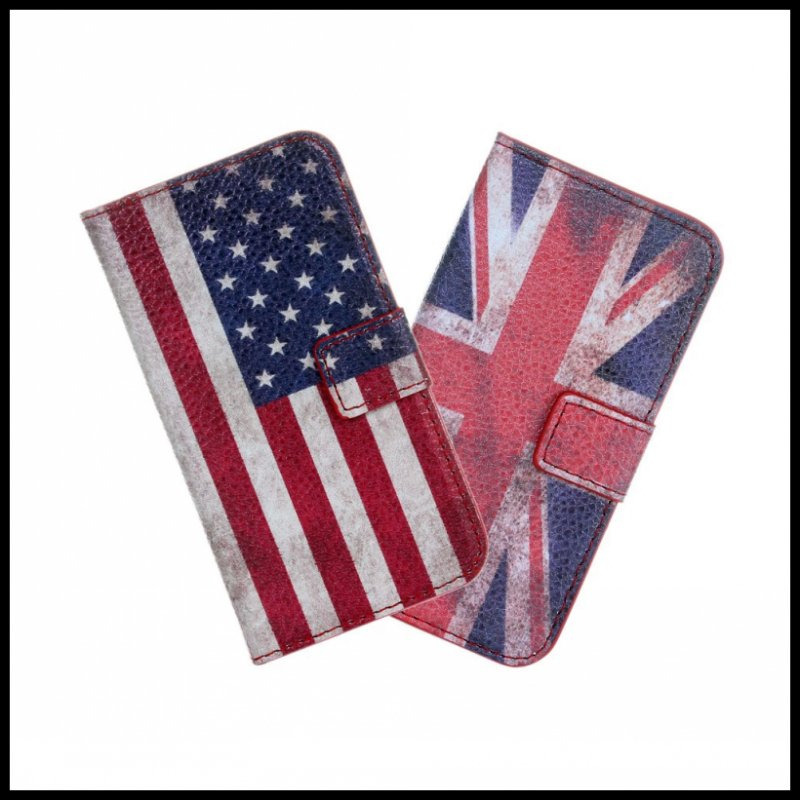 For iPhone 4 4S Retro UK USA Flag Case Cover Mobile Phone Accessories Bag Leather Book Flip Wallet Fundas For iPhone 4 4S Case(China (Mainland))