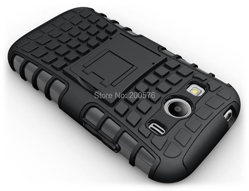 TPU&PC Heavy Duty armor stand case For Samsung Galaxy Ace 4 G357Fz G357 (128.9mm*65.8mm*9.1mm) Free Shipping 200 pcs