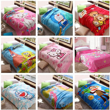 2015 Children Baby Blanket/Cartoon Characters Coral Fleece Polyester Blankets/Hello kitty/150*200cm/Air Conditioning Comforter(China (Mainland))