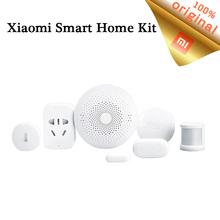Buy Original Xiaomi Smart Home Kit Gateway Door Window Sensor Temperature Human Body Sensor Mijia 6 1 wireless Swith Socket for $75.99 in AliExpress store