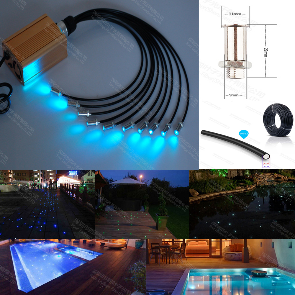 16w Led Rgb Underwater Light Waterproof Ip68 Fountain Swimming Pool Lamp Colorful Change With