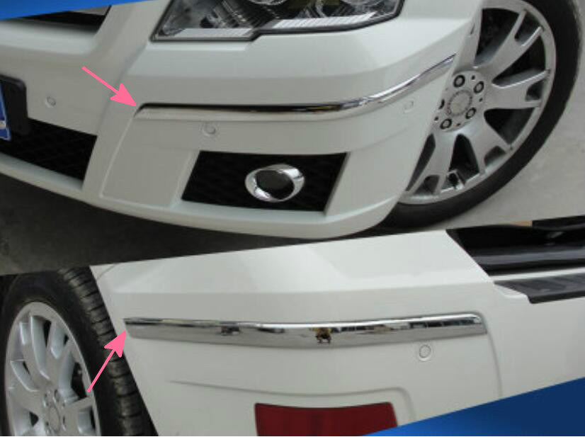 Front &amp; Rear Bumper corner protection trims For Benz GLK X204 2008-2012<br><br>Aliexpress