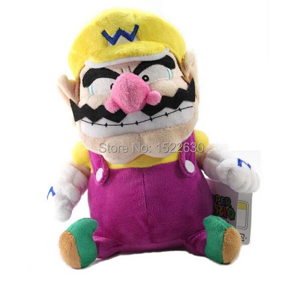 "5pcs Super Mario Plush - 7"" Wario Soft Stuffed Plush Toy Japanese Import(China (Mainland))"