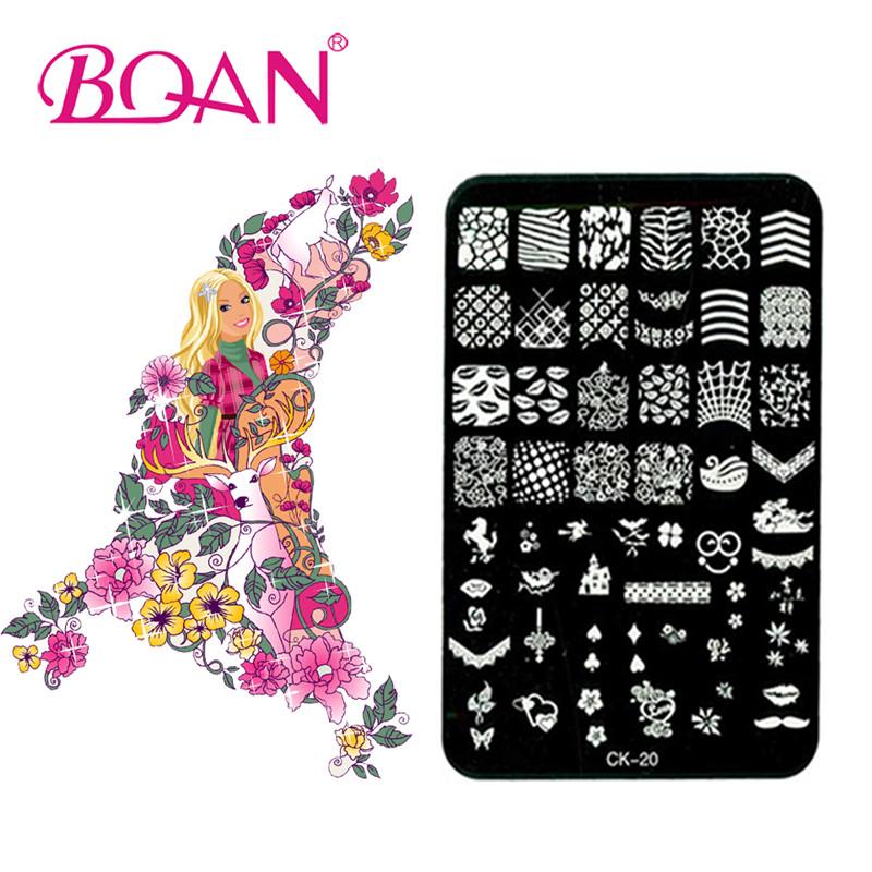 Hot Sale BQAN 1PC 48 Types Stainless Steel Nail Art Stamp CK-20(China (Mainland))