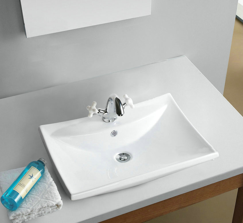TD3005/3 Ceramic Vessel Sink Bathroom square Bowl Wash ...
