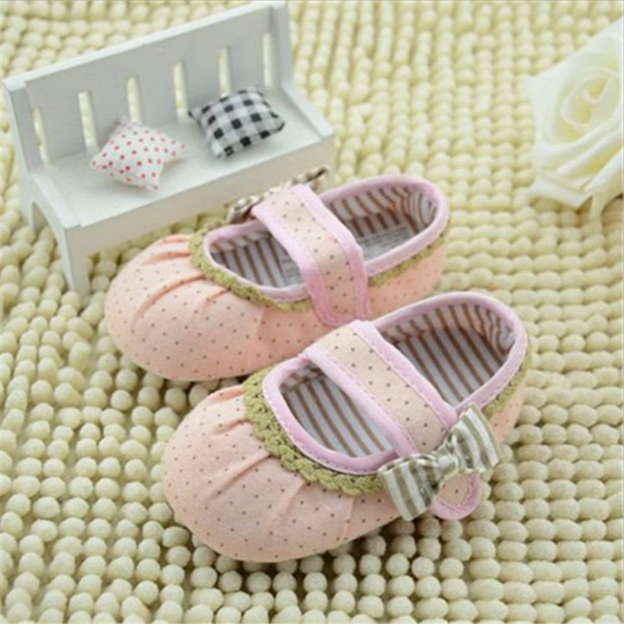 2016 UCanaan New Arrival Soft Cotton Baby Shoes Sweet Pink Butterfiy-Knot & Green Lace Fit For Spring/Autumn Cute Baby Shoes(China (Mainland))