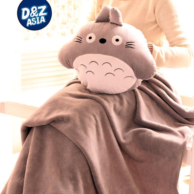 Totoro series Pillow Warmer blanket Totoro plush toy pillow quilt dual nap pillow Hand Po Shou Wu birthday valentine(China (Mainland))