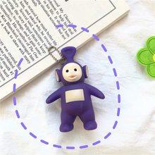 2019 nova marca original dos desenhos animados teletubbies boneca chaveiro para crianças presente de natal chaveiro figura ação brinquedos dos desenhos animados quentes(China)