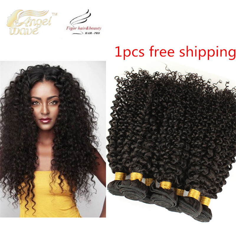 Angelwave Hair products 8A grade kinky curly virgin hair 1pcs free shipping 100% natural kinky curly human hair weave 100g<br><br>Aliexpress