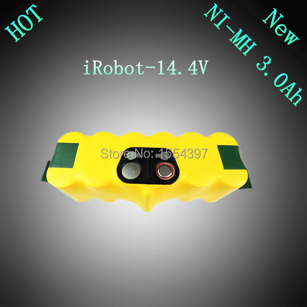 14.4V NI-MH 3000mAh Replacement Rechargeable Battery for iRobot Roomba 500 610 700 Series 80501 510 530 540 550 560 780 770 760(China (Mainland))