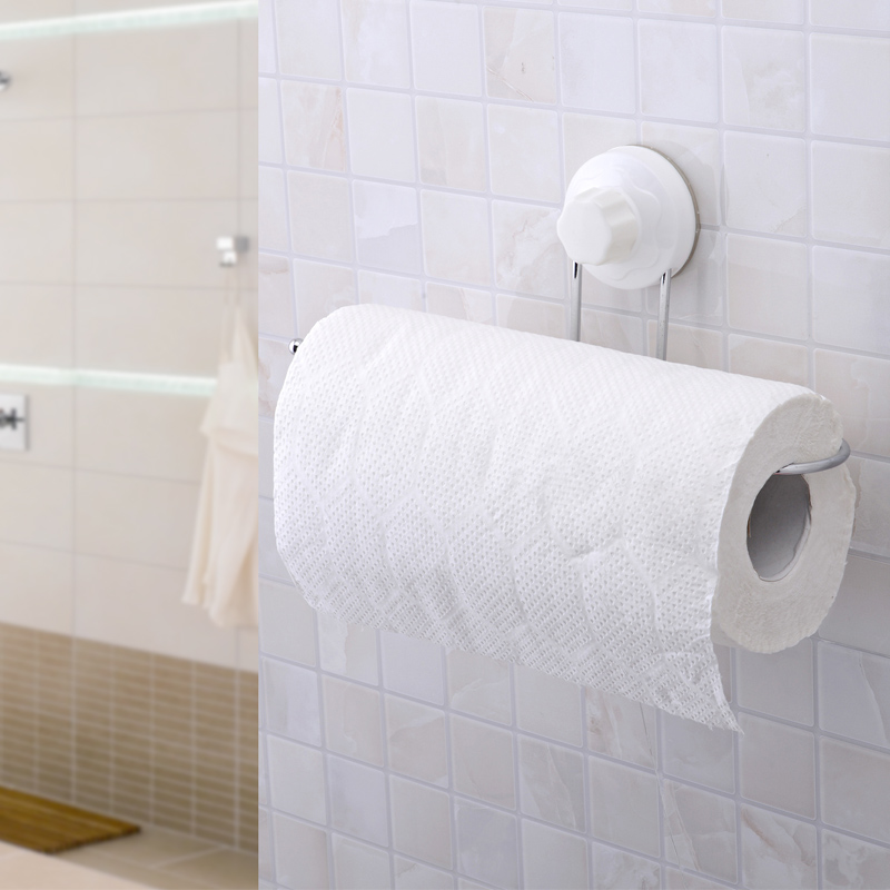 Strong Suction Cup Toilet Paper Holder Bathroom Accessories;Kitchen Towel Rack Tissue Roll Holder Porta Papel Higienico 1960(China (Mainland))