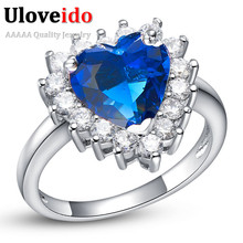 Silver Plated Jewelry Wedding Rings for Women Cubic Zirconia Red Blue White Purple Pink Purple Ring Jewelry Charms Anel J461(China (Mainland))