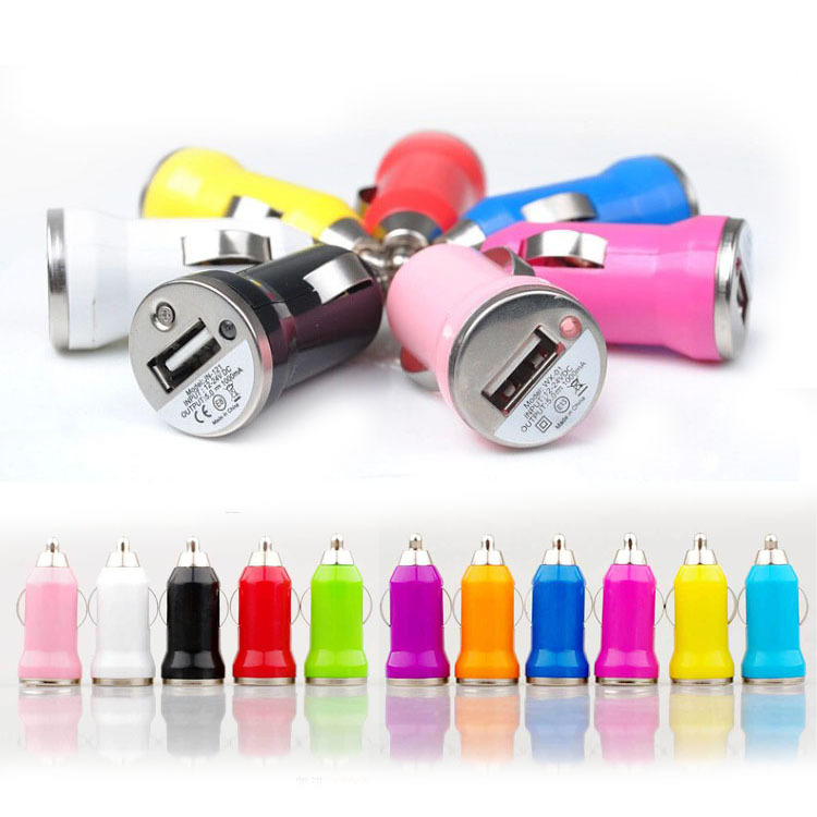 5V 1A Mini USB Car charger adapter cigarette lighter for iphone 5S samsung S5 and all mobile phones electronic products(China (Mainland))