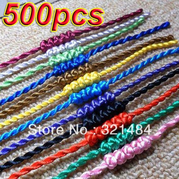 Wholesale Fashion Bracelet !!! 500pcs Mixed Silk Satin Twist Cord Braclet For Europe&amp;America Charm Jewelry<br><br>Aliexpress