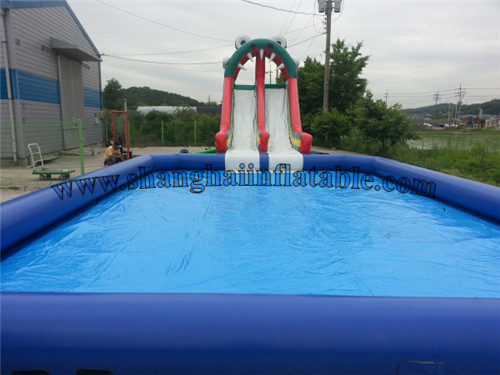 2016 best selling inflatable slide and swimming pool with high quality for kids and adults.(China (Mainland))