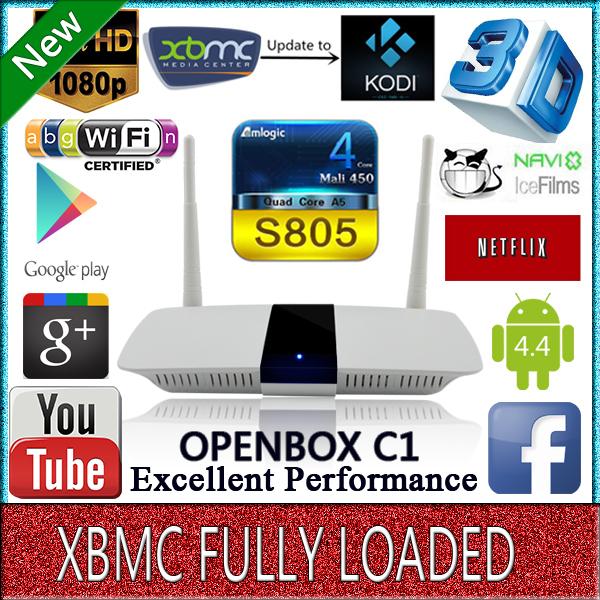 OPENBOX C1, best Android tv box,1G/8G Quad Core Android 4.4 iptv Box,Full HD 1080P Media Player, KODI Wifi mini pc Smart TV Box(China (Mainland))