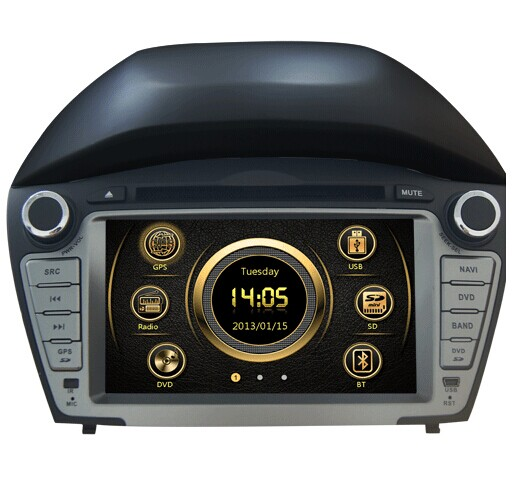 car multimedia gps for Hyundai ix35 2014 with steer wheel gps radio bluetooth USB SD TV IPOD Iphone 3G new hot(China (Mainland))