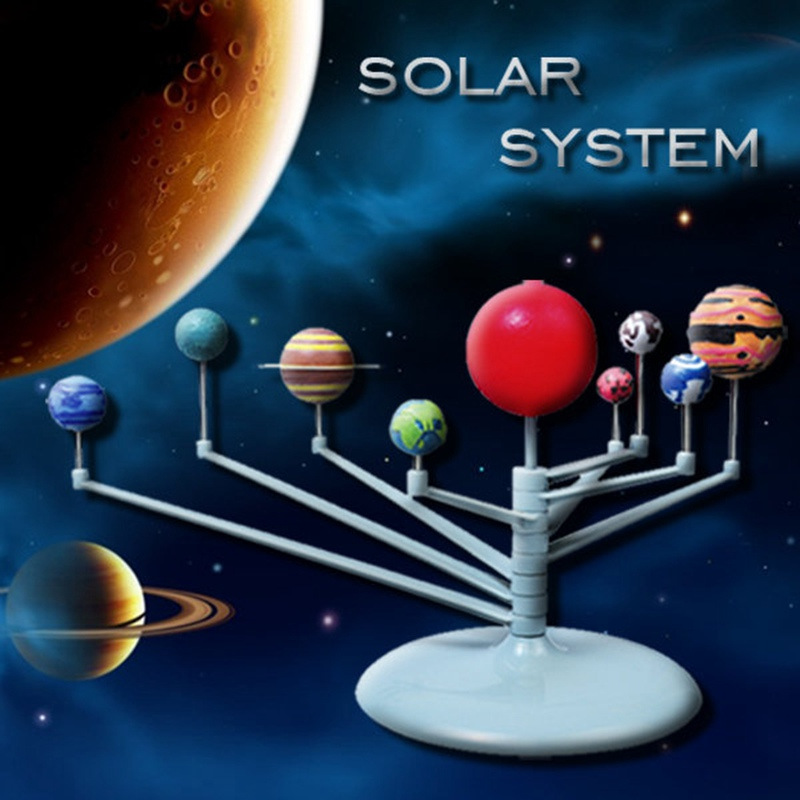 New DIY Sunlight Solar System Celestial Bodies Planets Model 3D Simulation Eductional Toys The Nine Planets Teaching model(China (Mainland))