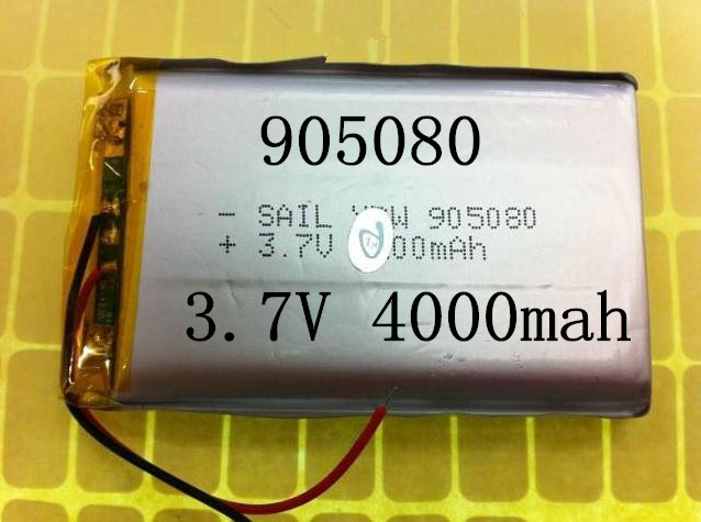 Size 905080 3.7V 4000mah Lithium polymer Battery with Protection Board For PDA Tablet PCs Digital Products Free Shipping<br><br>Aliexpress
