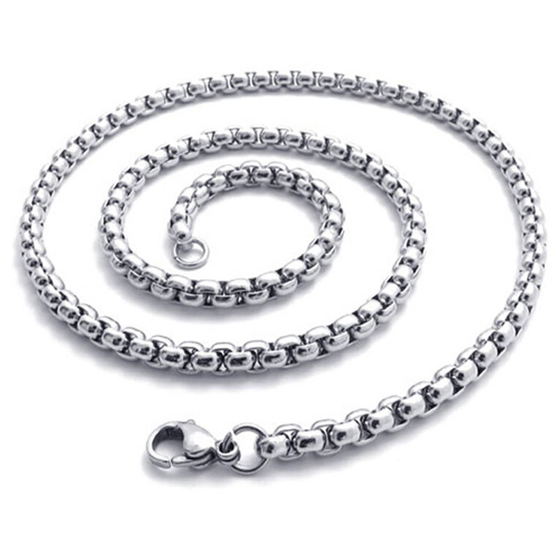 High Quality Length 50cm Stainless Steel Open Link Chain With Lobster Clasps Necklace Bracelet Chains Diy Jewelry Making F3550(China (Mainland))