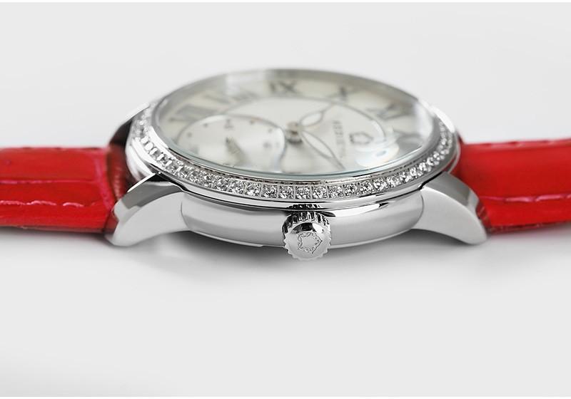 KEDIEYA Бренды Часы Классический Рома Часы Женщины Алмаз Второй Дизайнер Циферблат Miyota Кварцевые часы Дамы Девушки Серебро