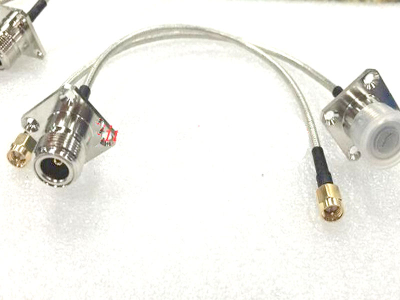 2pcs/lot SMA male to N female panel pigtail semi-rigid cable RG402 Cable 20cm 50Ohm(China (Mainland))