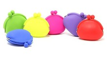 New Silicone Round Coin Purse Wallet Card Rubber Key Bag Pouch