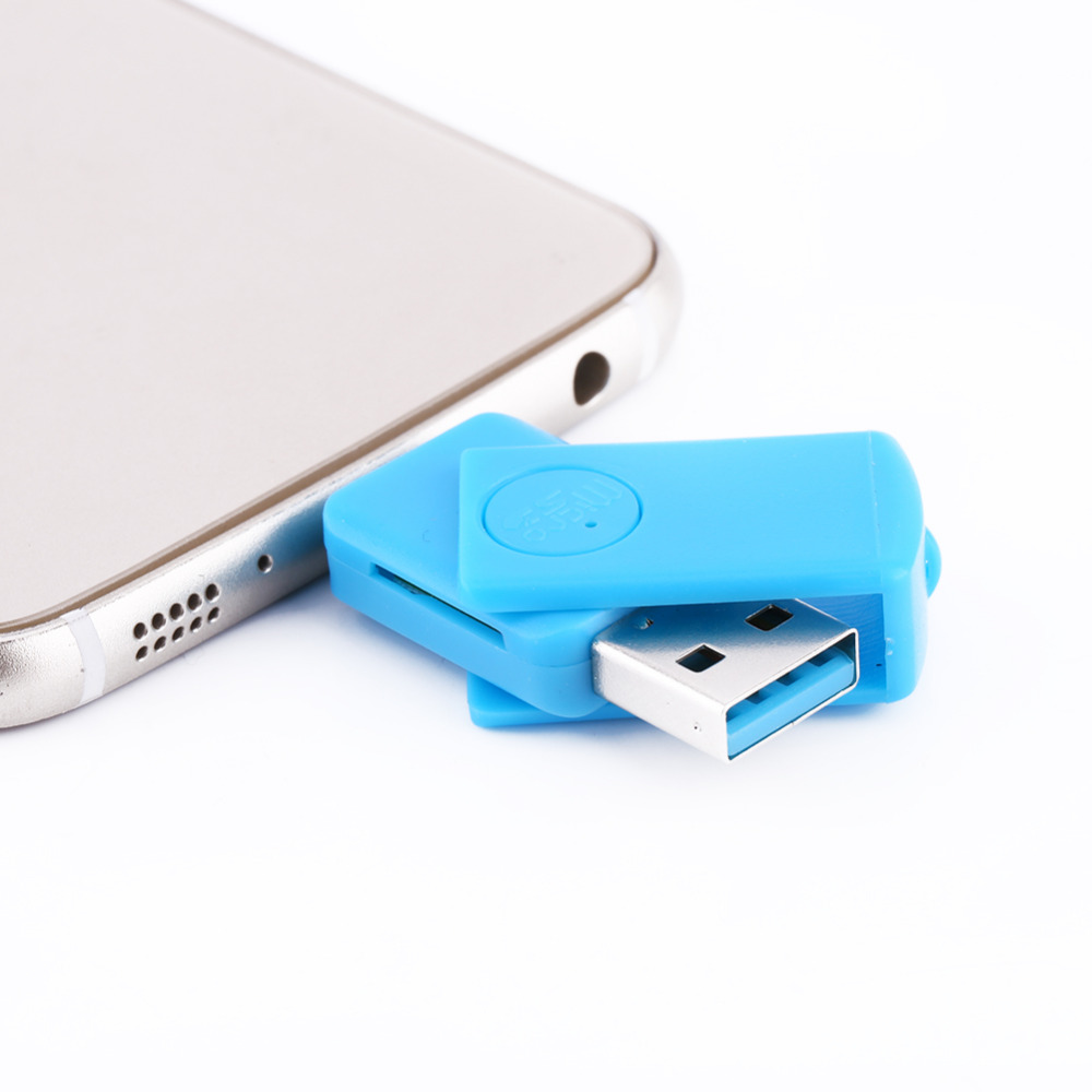 2 in1 Micro USB 2.0 Multi Card Reader Sd OTG Adapter+Micro SD TF Card Reader For Android Phone(China (Mainland))