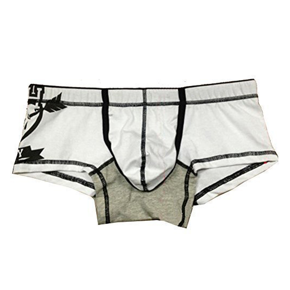 SYB 2016 NEW New Sexy Men Men's cool Underwear Mens Boxer Brief Underpants -White, L(China (Mainland))