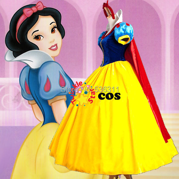 2015 sexy costumes for women adult Carnival Custom made Snow White Princess Dress Cosplay Costumes birthday Party dresses(China (Mainland))