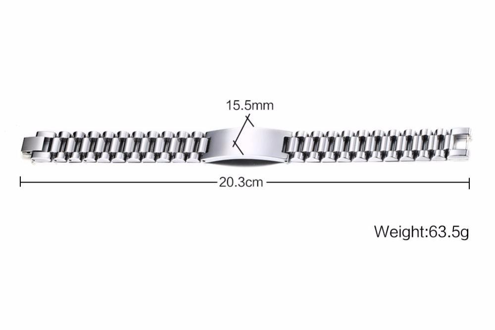 Mens bracelets Free Stainless Steel Made Scratch Resistant Id Bracelet Edelstahl Armband Men Jewelry silver 111