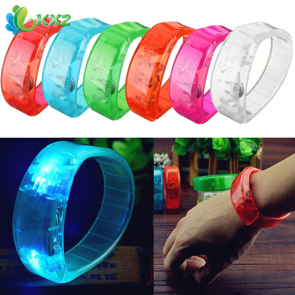 Voice Control LED Light Glows Wristbands Bracelet Bangle Party Concert(China (Mainland))