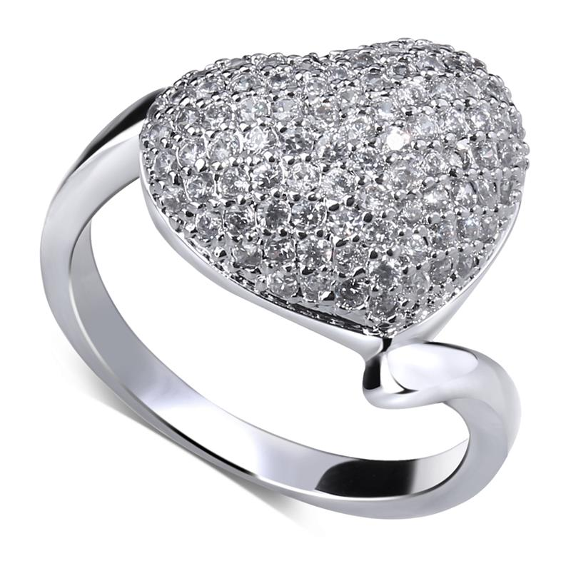 2015 Valentine day heart shape Fashion popular women's ring platinum plated best gift choice for girlfriend()