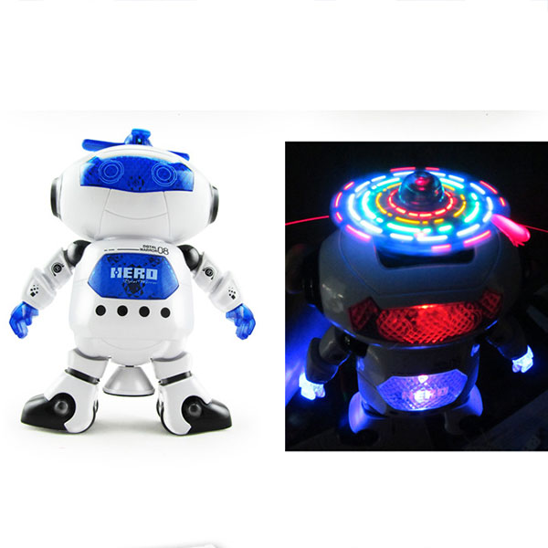 2017 Stunt Kids Robot Superhero Dance Robots With Light Music Musical Toys Action Figures For Children Infant Adults -17 88 FJ88(China (Mainland))