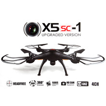 New Version Syma X5SC - 1 Black Falcon HD Camera 4 Channel 2.4G RC Quadcopter 6 Axis 3D Flip Fly 360 Degree Eversion(China (Mainland))