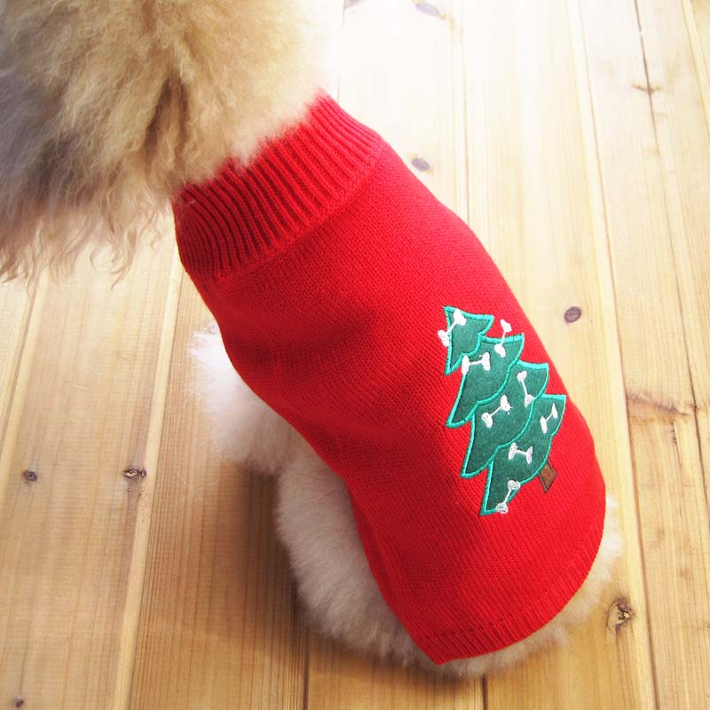 Wonderful Pet Christmas Clothes Crochet Dog Sweater Winter Knitwear Outerwear Apparel Clothing Cats & Dogs Chihuahua Poodle