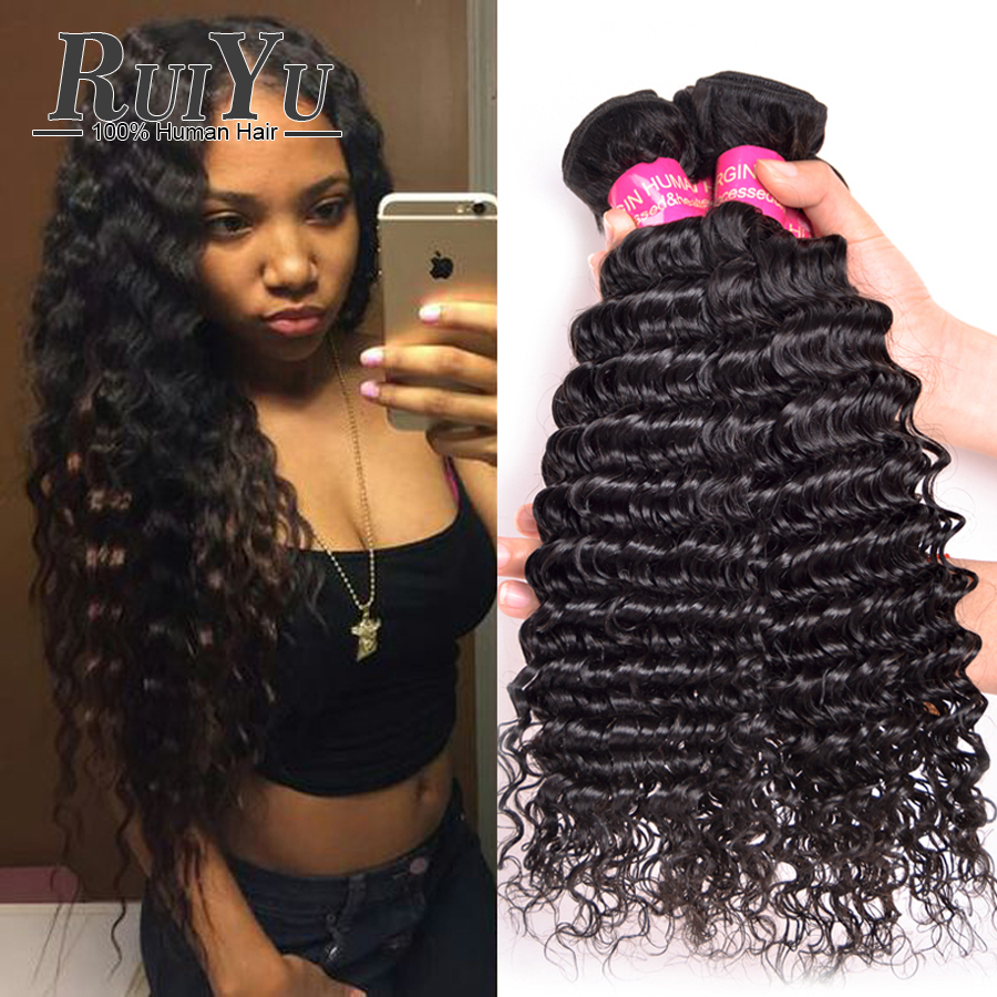 Malaysian Deep Wave 3bundles 7a Unprocessed Virgin Hair