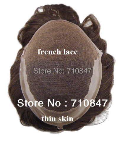 New arrival 100% human hair Q6 base stock men toupee free shipping