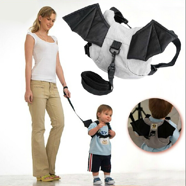 Baby Toddler Harness Batman Bats Walk Learning Assistant moon Walker Leashes(China (Mainland))