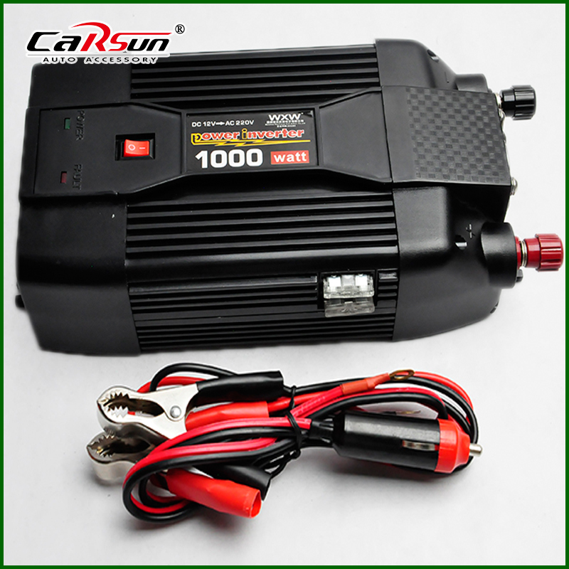 NEW 12V DC to AC 220V AC 1000W Car Power Inverter 12V 220V Grid Tie Inverter With USB For Solar/Wind/Gas Power Generation(China (Mainland))